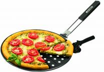 GrillPro 98140 Non-Stick Pizza Grill Pan includes Pizza Cutter/ Server, 12-Inch Diameter